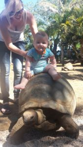 Baby in Mauritius